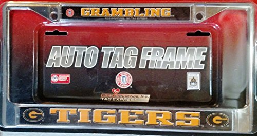 Grambling State Tigers LBL Chrome Metal License Plate Tag Frame Cover University of