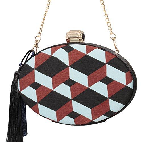 lico Tassel Evening Clutch Bag Fashion Purse Women Handbags (Style A) ()