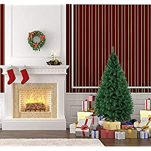 Dporticus 5 Ft Stand Christmas Tree with Metal Legs and Anti-dust Bag Holiday Season Indoor Outdoor Green White 5