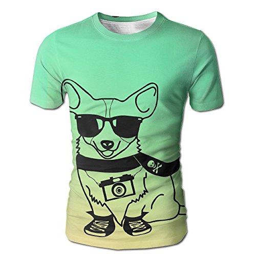 HenSLK Men's Summer Dog Sunglasses Skull Muffler Casual Novelty Crew Neck Short Sleeve Shirt - Mayweather Sunglasses