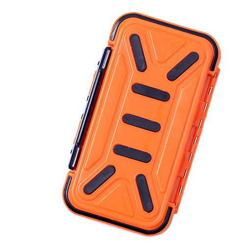 Hicreat Double-Sides Fishing Tackle Boxes Waterproof Storage Cases Fly Fishing Tool Small Accessory Tackle Box for Outdoor Large Boxes Containers Light Weight Orange Black Gray ()