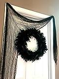 Dondor Halloween Creepy Cloth Decoration, 12 FEET x 2.5 FEET, By (2 Pack - Black)