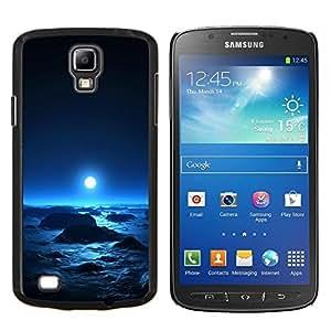 YiPhone /// Prima de resorte delgada de la cubierta del caso de Shell Armor - Luna azul brillante planeta extranjero Espacio Cosmos - Samsung Galaxy S4 Active i9295