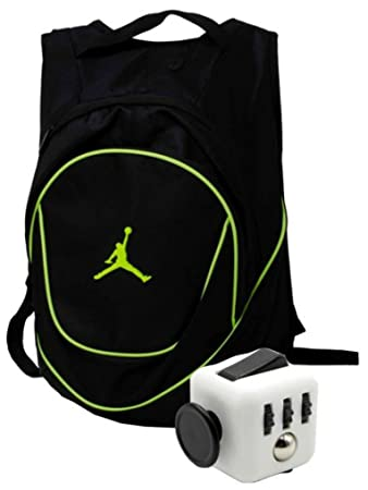 Nike Air Jordan Jumpman 23 Black Book Bag Backpack with FREE FIDGET CUBE ( Black  2254d194ce716