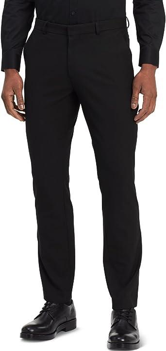 Calvin Klein Hombres Slim Fit Fine Cord Stripe Bi Stretch Pant Pantalones Para Vestir Negro Amazon Es Ropa Y Accesorios