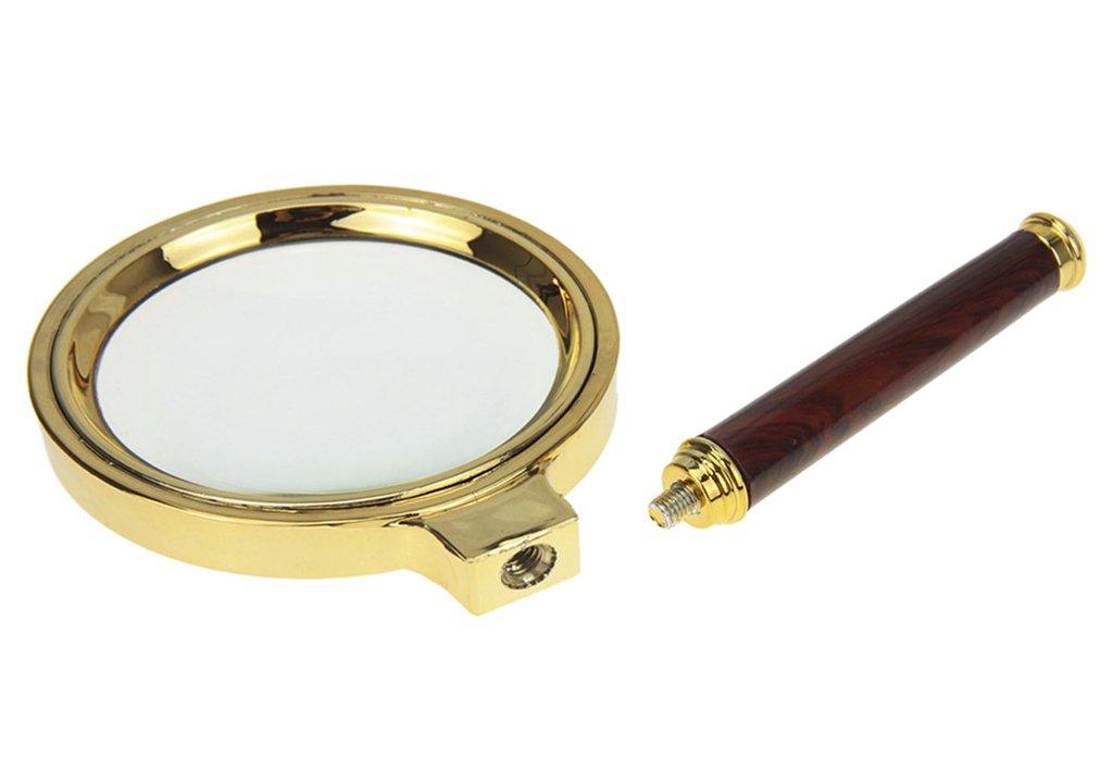 10X Reading Magnifier Handheld Magnifier Loupe Glasses 10X Redwood Handle for Book Newspaper Reading Insect Hobby Observation Classroom Science Advanced Exquisite Magnifier Clear Reading Magnify Tool RUIXIB