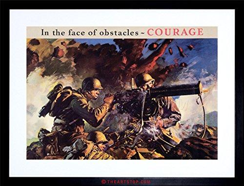 The Art Stop Vintage AD Propaganda WWII WAR Enlist Army USA Gun Soldier Framed Print F97X6164