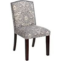 Skyline Furniture Nail Button Arched Dining Chair in Telesto Ash