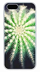 Plant Cactus Customized Popular DIY Hard Back Case Cover For iPhone 5S White