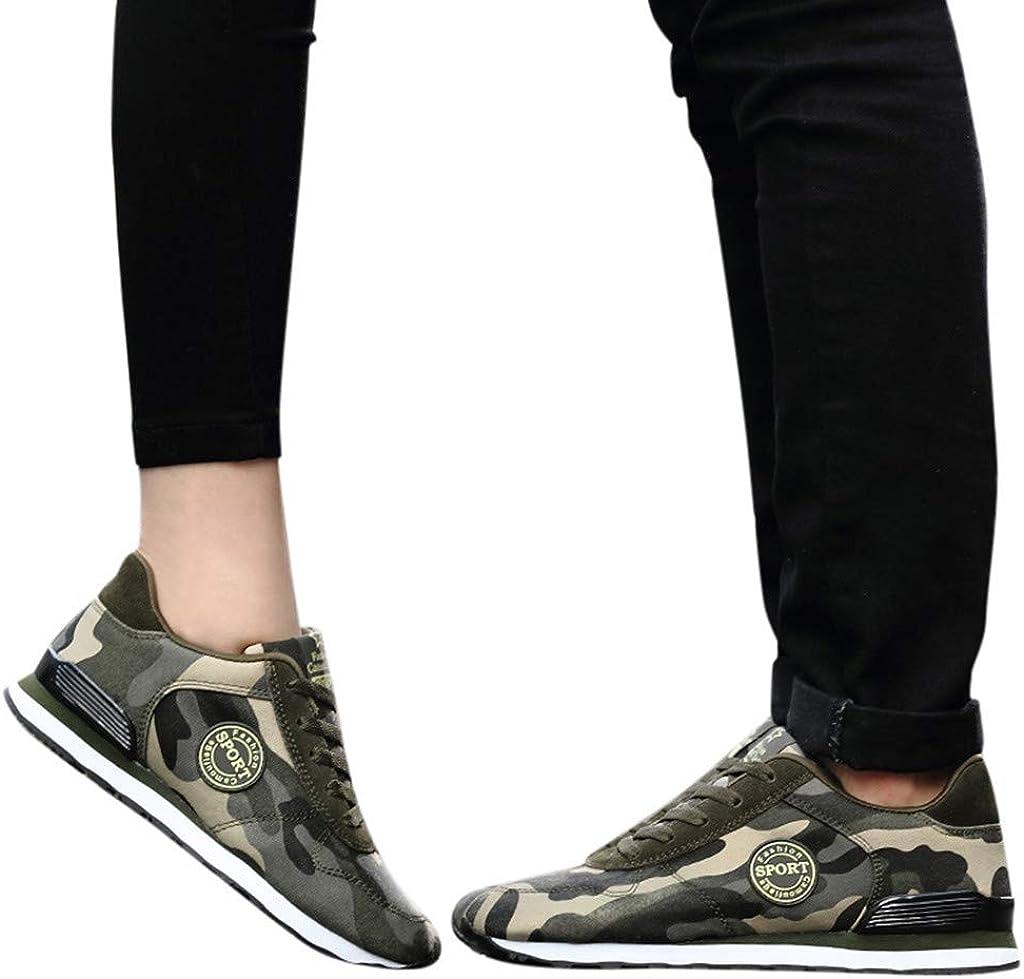 Kaister Mode Couple Camouflage Polyvalent Chaussures de Sport Respirant Chaussures de Course Décontractées 36-46 Camouflage