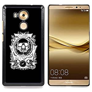 - Skull Abstract Black White Gears - - Snap-On Rugged Hard Cover Case Funny HouseFOR Huawei Mate 8