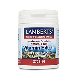 Lamberts Natural Form Vitamin E 400iu (268mg) 60 Capsules