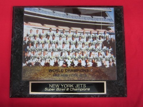 - New York Jets Super Bowl III Champions Engraved Collector Plaque #1 w/8x10 Photo
