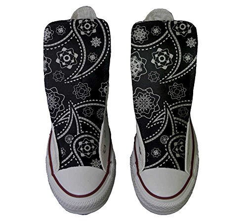 Converse All Star Customized - zapatos personalizados (Producto Artesano) Black Paisley