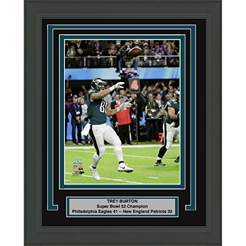 Framed Trey Burton Passing TD Touchdown Philadelphia Eagles Super Bowl 52 Champions 8x10 Football Photo Professionally Matted #1