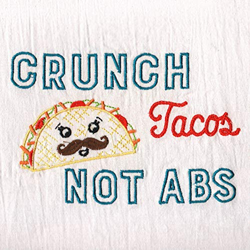 Aunt Martha's Dirty Laundry Crunch Tacos not Abs Flour Sack Dish Towel (Best Crunches For Abs)