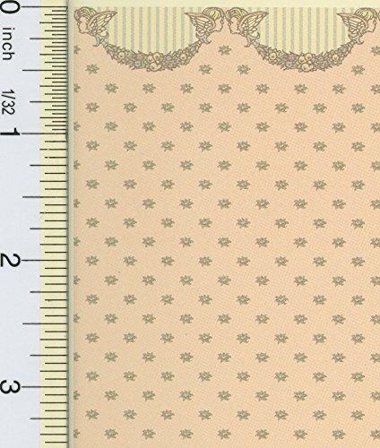 Brodnax Prints Dollhouse Miniature 1:24 Scale Cherubs Wallpaper (Wallpaper Cherub)