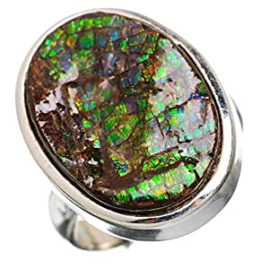 Ana Silver Co Rare Ammolite 925 Sterling Silver Ring Size 6 RING846435