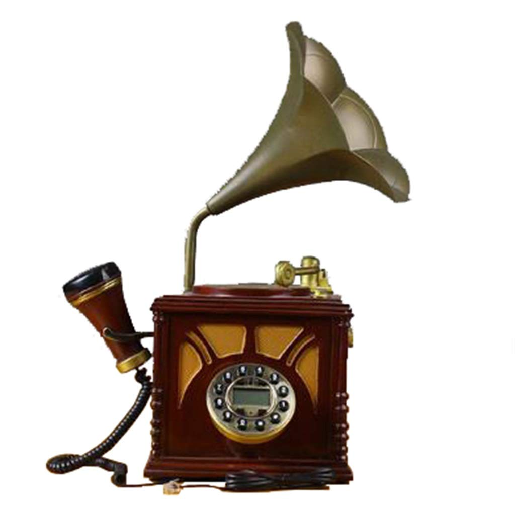 JGBHPNYX Antique Phone European Creative Living Room Craft Retro Old Turntable Home Landline Office Phone