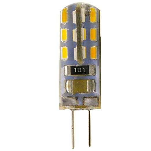 Bombilla LED G4 1.5 W 3000 K blanco cálido luz 220 V AC 24 x 3014