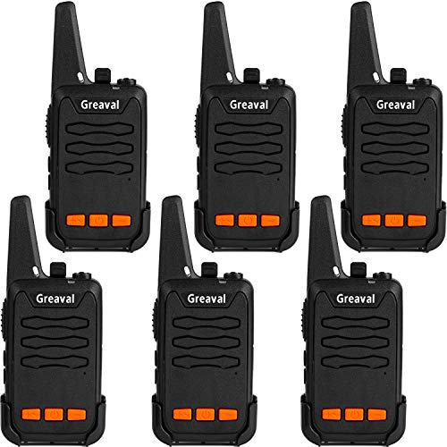 Greaval Walkie Talkies 6 Pack Long Range Mini 2 Way Radio 16-Channel with Charger