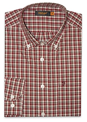 Farah Herren Freizeit-Hemd rot Cabernet Einheitsgröße