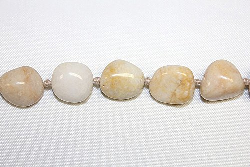 Hand Crafted Tumble Agate Nuggets ** Ivory **- 32