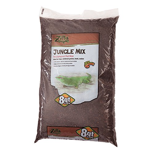 Zilla Reptile Terrarium Bedding Substrate Jungle Mix Moss & Fir, 8-Qt.