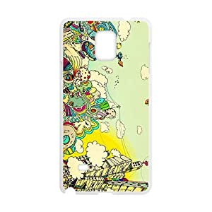 Creative Graffiti Town Hot Seller High Quality Case Cove For Samsung Galaxy Note4