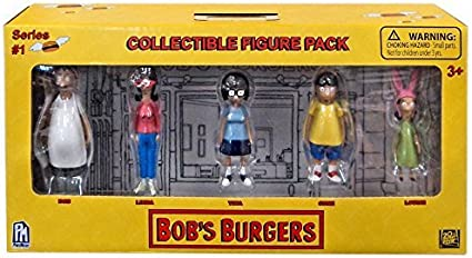 "3/"" Bobs Burgers Mini Figure 5 Piece Box Set Collectible for Fans"