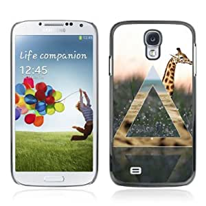 Designer Depo Hard Protection Case for Samsung Galaxy S4 / Giraffe Geometry
