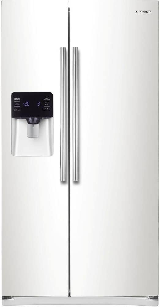 Samsung RS25H5121WW 24.5 Cu. Ft. White Side-By-Side Refrigerator - Energy Star