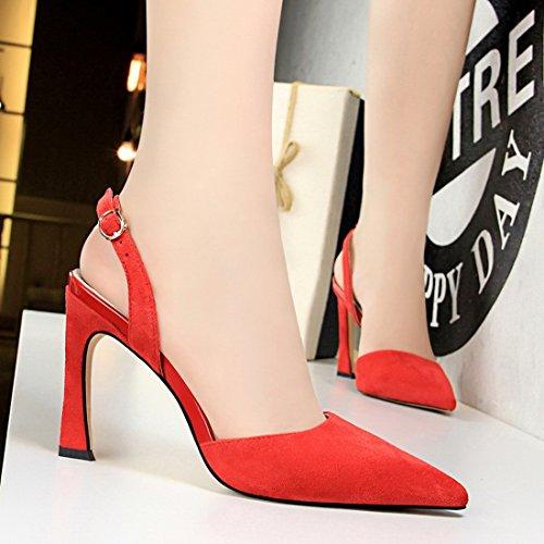 5 36 DS313 Rouge MiyooparkUK Femme pour 1 Red Miyoopark Escarpins UwRnSBxqz