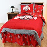 College Covers Ohio State Buckeyes Bed in a Bag King - With Team Colored Sheets