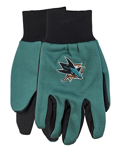 NHL San Jose Sharks 2015 Colored Palm Utility Gloves, - Blue Jose