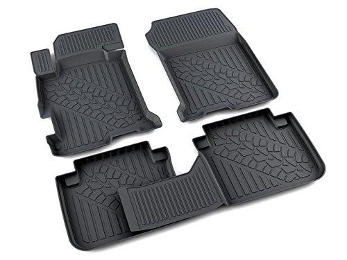 Honda Accord 9 floor mats 2013-2016 car black rubber full kit 4pc 08P13-T2A-110