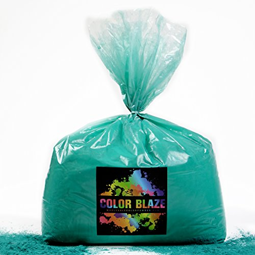 Holi Color Powder Teal 25lbs -Ideal for color run events, youth group color wars, Holi events and more! Blue, Orange, Red, Purple, Pink, Yellow and Green Available