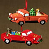 Set of 2 Ducks Unlimited Labrador In Truck Christmas Ornaments