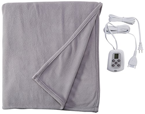Serta 856757 Heated Electric Fleece Blanket with Programmable Digital Controller In Gray, Full Controller Heated Electric Full Blanket