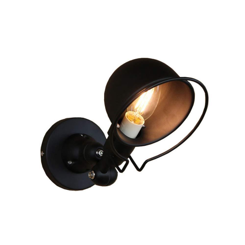 MICOKY Wand Lampe Eisen schwarz Loft Retro industrielle Gang Outdoor-Cafe Restaurant E14 Wandleuchte