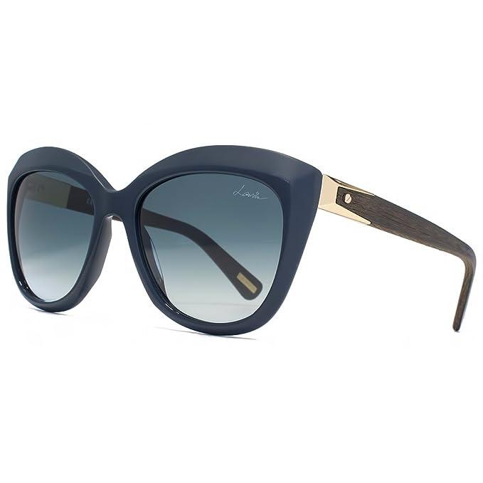 Lanvin Occhiali da sole legno tempio Cateye nella Marina SLN632 0B04 55 55  Blue Gradient  Amazon.it  Abbigliamento 48482df9541a