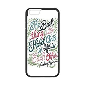Audrey Hepburn Quote Brand New Cover Case with Hard Shell Protection for Iphone6 4.7