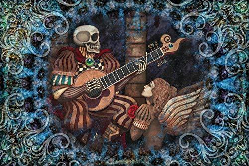 Eternal Love Skeleton 3D Tapestry by Dan Morris by Dan Morris Art & Design