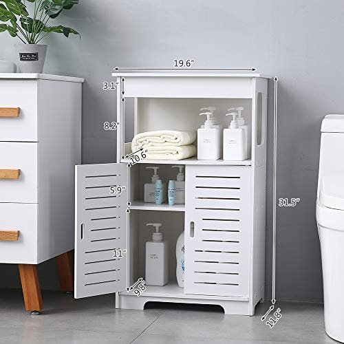 PANFREY Home Bathroom Floor Storage Cabinet With Double