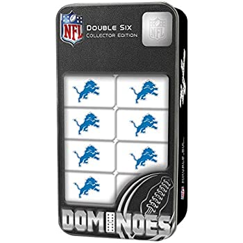 MasterPieces NFL Detroit Lions, Double Six Collector Edition Dominoes Game, for Ages 3+