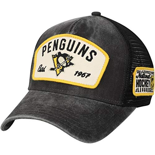 American Needle Pittsburgh Penguins Bennett Mesh Adjustable Snapback Trucker Hat