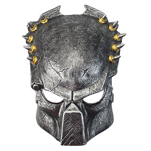 [Dlife(TM) Fashion Predator Resin Mask Vintage Cosplay Party Mask Halloween Adult (Silver)] (Predator Deluxe Mask)