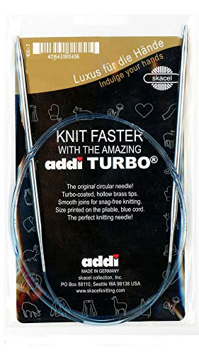 addi Knitting Needle Turbo Circular Blue Cord 16 inch (40cm) Size US 03 (3.25mm) ()