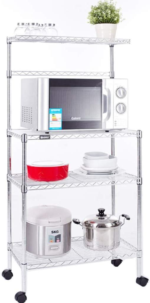 HUYYA Utilidad estantería metálica Cocina, Carrito Cocina con ...