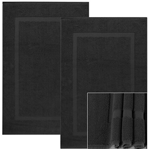 outlet extra long cotton bath mat 2 pack master bathroom floor mats large - Cotton Bathroom Mat